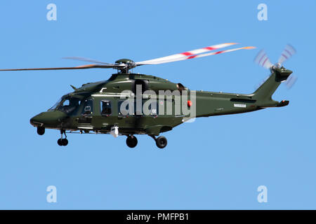 AgustaWestland (Leonardo) AW149 military helicopter of the Italian Air force - Stock Image
