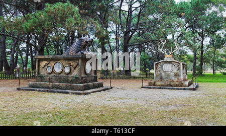Sydney, Australia - 14 April 2019: Graveyards of Characters from popular TV show Game of Thones. Public event in Sydney centennial park with free admi - Stock Image