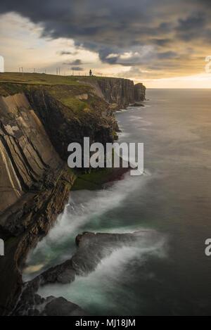 Cliffs at Loop head in Ireland - Stock Image