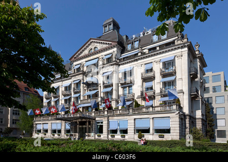 Switzerland Zurich, Hotel Eden au Lac, near Zurich lake promande - Stock Image