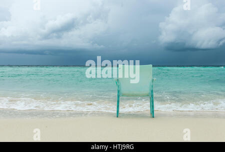Bad weather in the Maldives - Stock Image