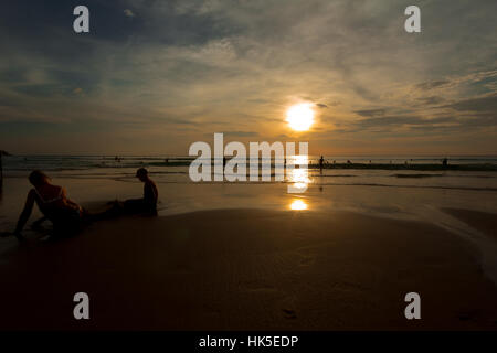 The evening before sunset on Karon Beach in Phuket, Thailand - Stock Image
