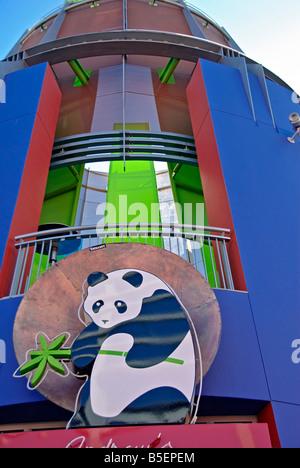LA California Los Angeles CA Universal City Walk Citywalk Panda Express restaurant holiday holidays travel us usa - Stock Image