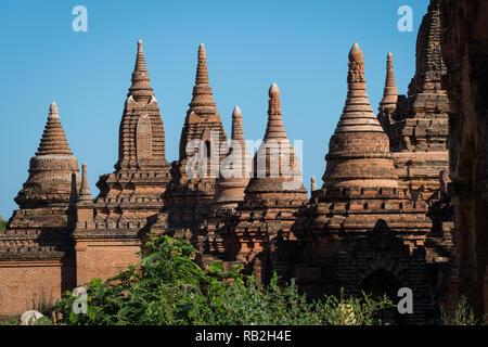 Early morning at the Min Kyaw Zaya temple, Bagan, Myanmar - Stock Image