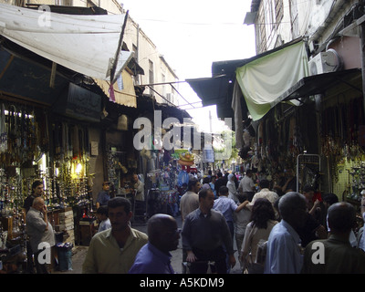 Market in damascus - Stock Image