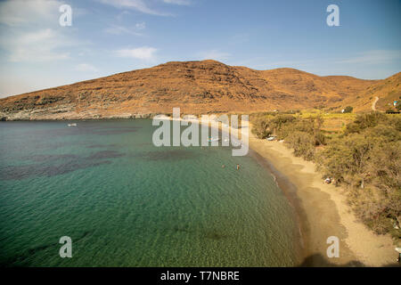 Greece, Cyclades islands, Serifos, Sikamia Beach - Stock Image