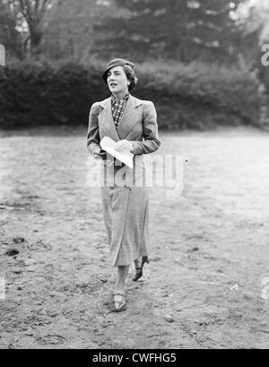 Mrs John V Bouvier III at a horse show, at the Rockwood Hall Country Club, Sleepy Hollow, Westchester County, New - Stock Image