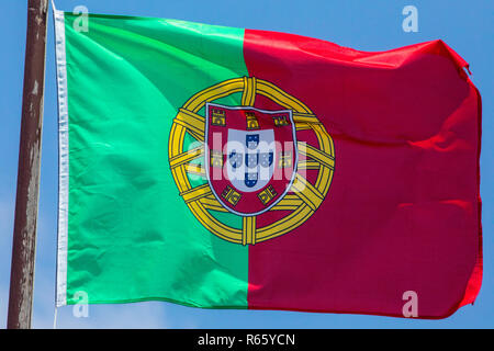 The flag of Portugal. - Stock Image