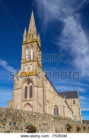 Plougrescant church - Brittany (France) - Stock Image
