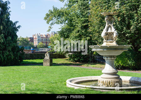 Sculpture garden, Bishops Park, Fulham Palace, Fulham, London Borough of Hammersmith and Fulham, London, Greater London, England, United Kingdom - Stock Image