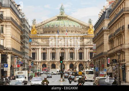 The Opera Garnier building in Paris - Stock Image