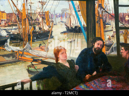 James McNeill Whistler, Wapping on Thames, painting, c. 1860 - Stock Image