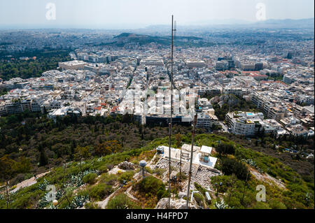 Athens, Greece. View from Mount Lycabettus, the highest point in the city. - Stock Image