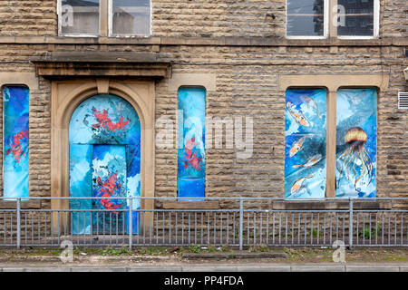 Former Council Offices building, Sowerby Bridge, West Yorkshire - Stock Image