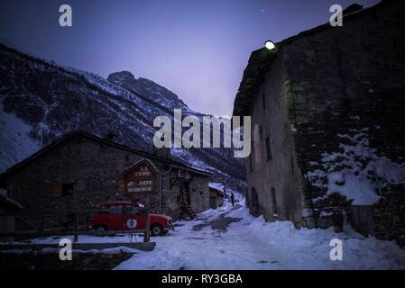 France, Alpes de Haute Provence, Saint Paul sur Ubaye, Ubaye valley, Maurin dell, Maljasset hamlet - Stock Image