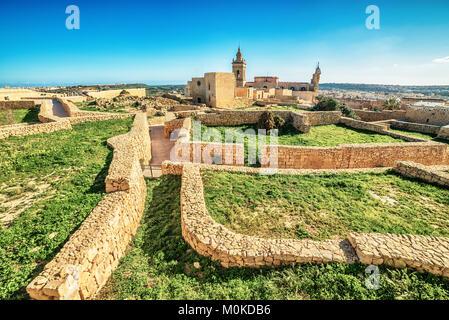 Victoria, Gozo island, Malta: the Cittadella - Stock Image