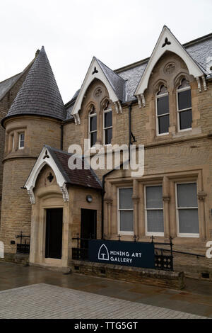 The Mining Art Gallery at Bishop Auckland in County Durham, England. The gallery exhibits artworks depciting the industrial heritage of North East Eng - Stock Image