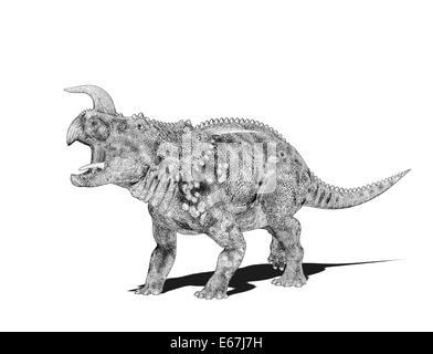 Dinosaurier Einiosaurus / dinosaur Einiosaurus - Stock Image
