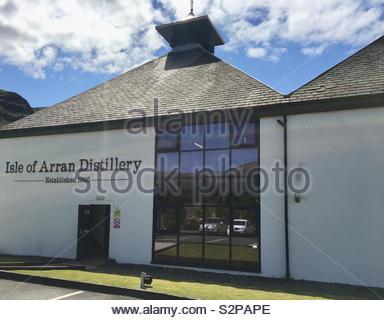 Isle of Arran Distillery - Lochranza, Arran, Scotland - Stock Image