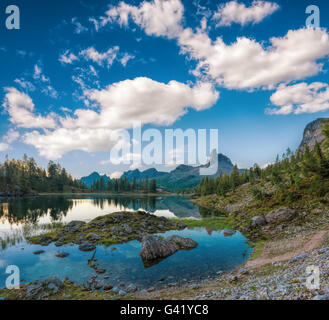Dolomites, landscape, magnificent mountains, fabulous, rock,  Dolomites, landscape, magnificent mountains, fabulous, - Stock Image