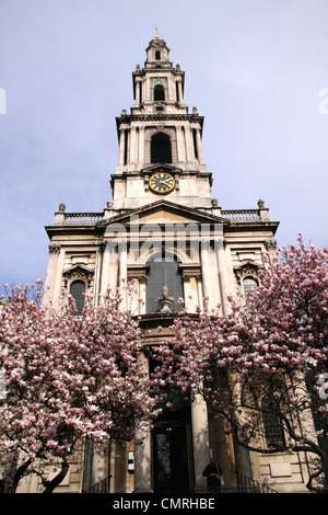 St Mary le Strand Church the Strand London - Stock Image