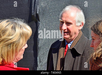Daniel Zeichner MP (Labour: Cambridge) on College Green, Westminster, 11th April 2019 - Stock Image