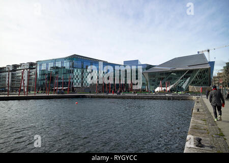Grand Canal Square south docks dublin 2 docklands Dublin Republic of Ireland Europe - Stock Image