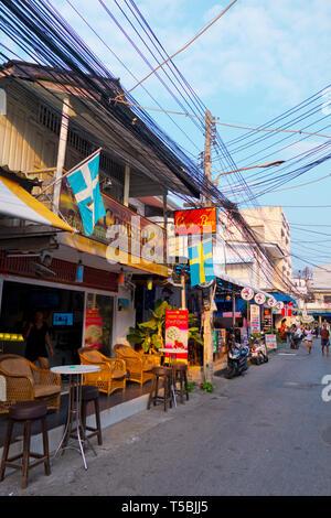 Bars, Selakam street, Hua Hin, Thailand - Stock Image