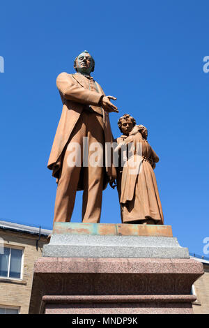 Statue of factory reformer  Richard Oastler, Bradford, West Yorkshire - Stock Image