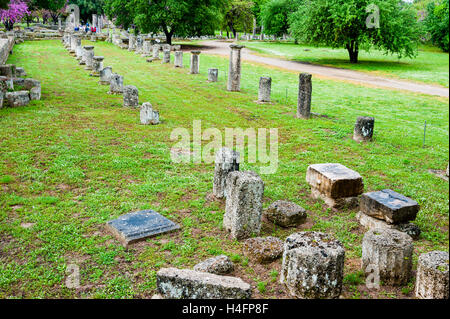 Olympia, Greece. The site of the Olympic Games in classical times. - Stock Image