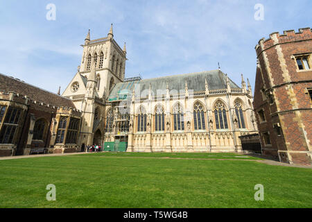 St Johns Chapel from First Court St Johns College Cambridge 2019 - Stock Image