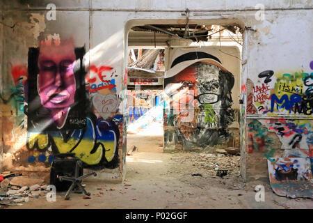 Scholiou Street Art Gallery, Athens - Stock Image