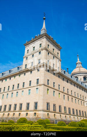 Royal Monastery. San Lorenzo del Escorial, Madrid province, Spain. - Stock Image
