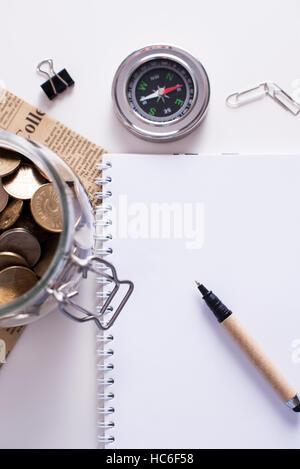 Jar of coins. Saving concept - Stock Image