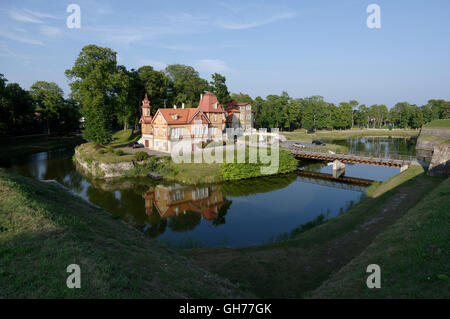 Nobleman's house in the park around the fortress, Lossi 16, Kuressaare. Estonia, Baltic States - Stock Image