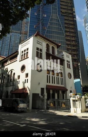 Telok Ayer Chinese Methodist Church (TA1) at Telok Ayer Street, Chinatown, Singapore - Stock Image