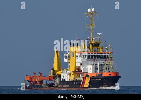 Bouy tender Scharhörn inbound for Kiel - Stock Image