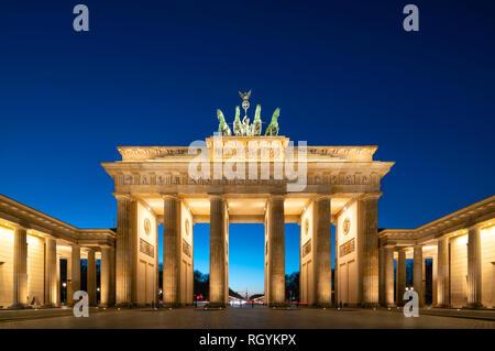 Berlin Germany Berlin Brandenburg Gate, Berlin Brandenburger Tor, Berlin Pariser Platz. - Stock Image