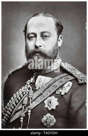 King Edward VII, portrait photograph by Alexander Bassano, c. 1877 - Stock Image