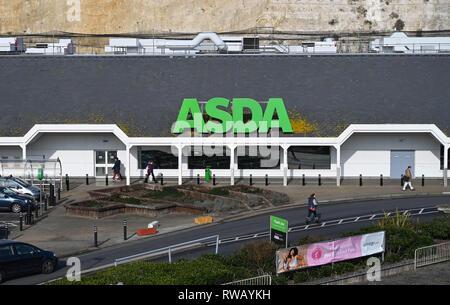 ASDA supermarket superstore in Brighton Marina   Photograph taken by Simon Dack - Stock Image