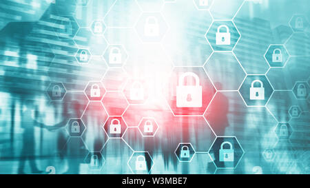 Cybersecurity, Information privacy, data protection, virus and spyware defense. - Stock Image