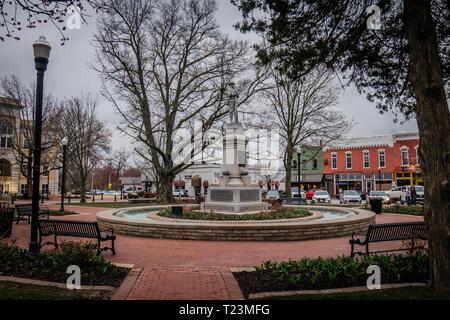 downtown bentonville city square arkansas - Stock Image