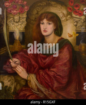 Sibylla Palmifera, Dante Gabriel Rossetti, 1865-1870, Lady Lever Art Gallery, Port Sunlight, Liverpool, England, UK, Europe - Stock Image