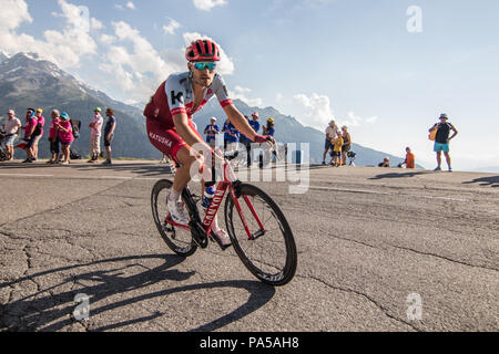 Rick Zabel Katusha Alpecin Tour de France 2018 cycling stage 11 La Rosiere Rhone Alpes Savoie France - Stock Image