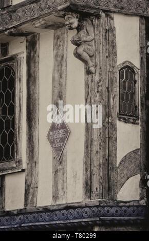 Historic building of Kent exterior. Canterbury, Kent, England, UK - Stock Image