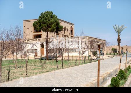Dolat Abad persian garden, UNESCO site in Yazd, Iran - Stock Image