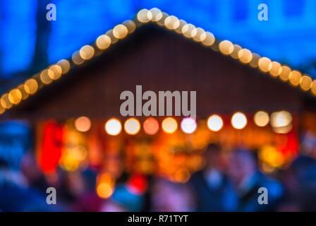 Defocused image of the European Christmas markets. - Stock Image