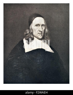 Robert Cromwell father of Oliver Cromwell painted by Robert Walker - Stock Image