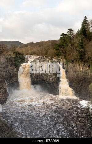 High Force waterfall, river Tees, Co. Durham, England, UK - Stock Image