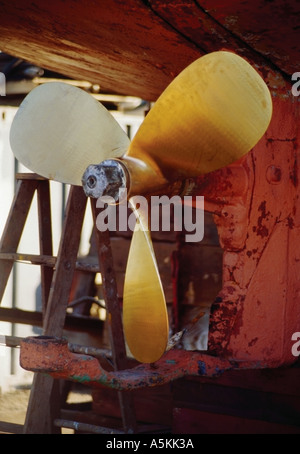 A propeller of a fishing boat Washington State USA 1994 - Stock Image